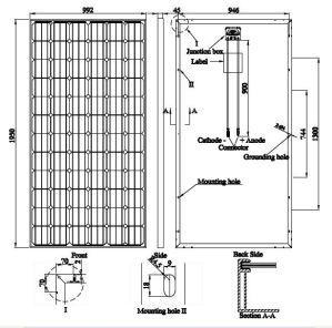 Pid Free Mono PV Solar Panel 330W German Quality pictures & photos