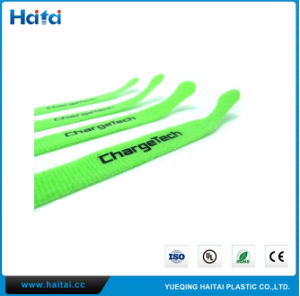 Hook & Loop Cable Tie with label Printing pictures & photos