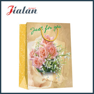 """Just for You"" Flowers Daily Shopping Pack Gift Paper Handbags pictures & photos"