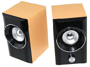 USB Wood Speaker with Volume Knob Control pictures & photos
