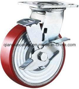 Industrial Caster, PU on Cast Iron Caster Whel, Heavy Duty Caster pictures & photos