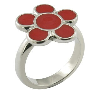 Polished Red Ring Flower Rings Stainless Steel Jewelry pictures & photos