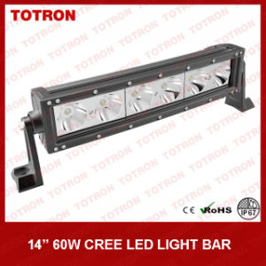 13.5 Inch 60W Single Row Curved LED Light Bar with 10W CREE LED Chip (TLB5060X) pictures & photos
