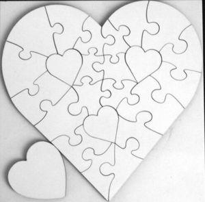 3mm Wood Heart-Shaped Sublimation Jigsaw Puzzle China Wholesale