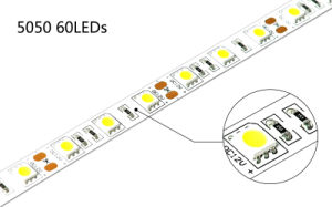 UL Certificate 60LEDs 5050 12V/24V LED Strip pictures & photos