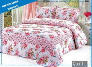 100%Cotton Flower Print Bedding Bed Cover (Quilt) pictures & photos