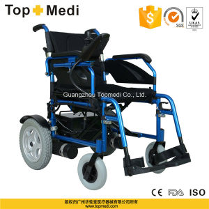 Topmedi Disabled Outdoor Aluminum Foldable Electric Power Wheelchair pictures & photos