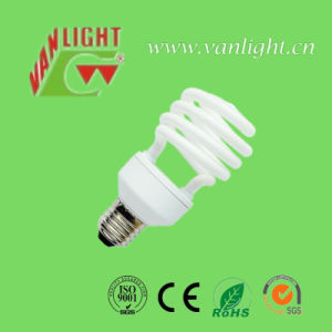 Tri-Color T2-T6 Half Spiral Energy Saving Lamps CFL pictures & photos