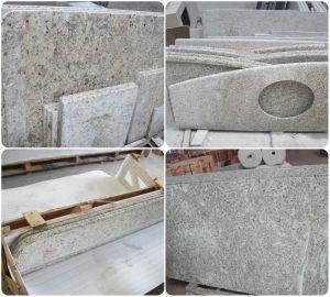 Artificial/Granite/Quartz Granite Giallo Ornamental Giallo Pearl Pre Cut Granite Countertop