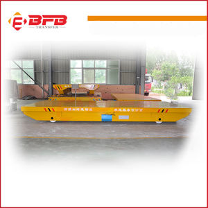 Push Putton Pendant Control DC Motor Electric Railway Cart for Warehouse Transfer pictures & photos