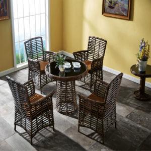 Foshan Factory Handmade Rattan Outdoor Furniture Garden Table Set pictures & photos