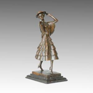 Dancer Statue Spanish Lady Bronze Sculpture, P. Philippe TPE-316