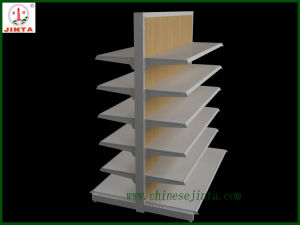 Double Sided Shelf with Wooden Material Back Board (JT-A30) pictures & photos