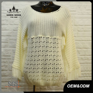 Women Loose White Knit Clothes pictures & photos