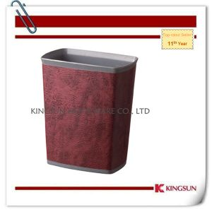 Synthetic Leather Single Layer Square Dustbin (DB-758) pictures & photos