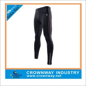 Men′s Black Compression Gym Pants with Printing Logo pictures & photos