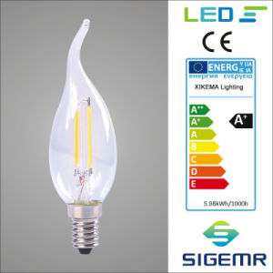Candle E14 CT35 2W 4W Filament LED Bulb pictures & photos