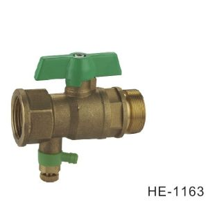 (HE-1163) Brass Ball Valve Pn25 with Wing Handle for Water, Oil