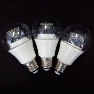 A60 LED Bulb Plastic with Lens