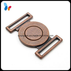 Custom Vintage Metal Alloy Red Copper Buckle Dress Buckle for Lady pictures & photos