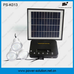 Home Lighting Solar Kits with 3 LED Bulbs Mobile Phone Charger pictures & photos