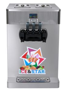 Table Model Double Cylinder Soft Ice Cream Machine/Double Color R3120A pictures & photos