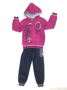 Fleece Kids Girl Sportswear Suit in Children ′s Clothes Swg-133