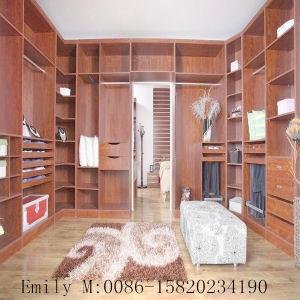 Hot Sale Wooden Veneer Bedroom Walk in Closet pictures & photos