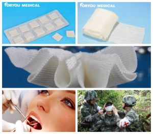 First-Aid Stop Bleeding Fast Hemostatic Dental Gauze Military Gauze with FDA510k pictures & photos
