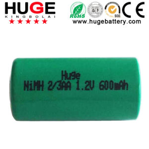 1.2V 2/3AA 600mAh Ni-mh rechargeable battery pictures & photos