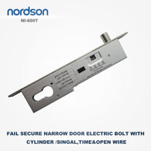Fail Secure Sturdiness Electric Bolt with Cylinder for Narrow Door pictures & photos