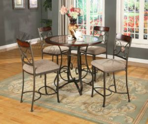 Metal Wooden (Coffee /Dining) Bar Table and Bar Chairs pictures & photos