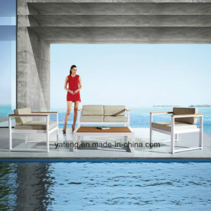 Compeitve Stackable Outdoor Garden Aluminum+PS-Wooden Furniture Sofa Set by Single & Double (YT953) pictures & photos