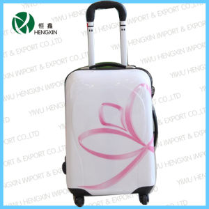 Pink Flower Panel Trolley Luggage Set pictures & photos