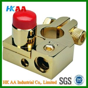 Customized High Quality Gold Plated Brass Car Battery Terminal Adapter pictures & photos