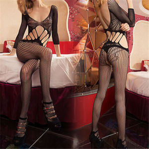 Women Sexy Floral Fishnet Lingerie Hot Lace Sexy Bodystocking pictures & photos