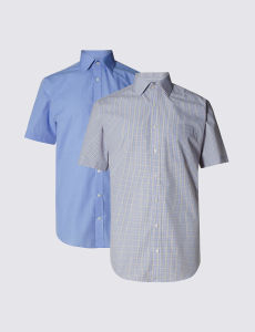 Classic Collar Assorted Colour Men Short Sleeve Shirt pictures & photos