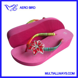 2016 Lovely High Heel EVA Slipper with Strap Decoration pictures & photos