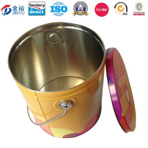 Metal Popcorn Package Bucket Tin pictures & photos