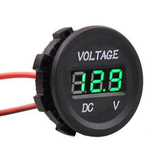 12V-24V Marine Car Voltmeter LED Light Waterproof Voltage Meter pictures & photos