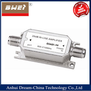 950-2150MHz 20 dB Inline Signal Amplifier pictures & photos