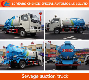 4X2 15cbm Sewage Suction Truck 180HP Vacuum Suction Truck pictures & photos