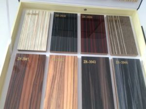 Glossy Woodgrain Laminated MDF Boards for Kitchen Cabinet (zhuv) pictures & photos