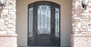 Exterior Custom Elegant Beautiful Single Iron Entry Door for House pictures & photos