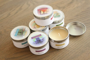 Round Candle Tin Box Set pictures & photos