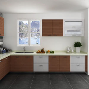 Oppein Fashionable Customized Melamine and HPL Kitchen Cabinets (OP14-M05) pictures & photos