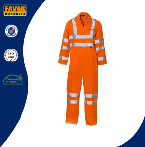 Yellow Safety Waterproof 300d Oxford High Visibility Reflective Tape Rain Coverall pictures & photos