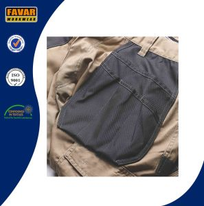 Mens Workwear Black Stone Cargo Pockets Work Trousers pictures & photos