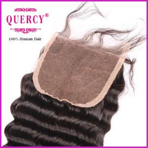 Cheap Lace Closure, Deep Wave Hair, Natural Color pictures & photos