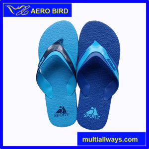 New Men Beach PE Slippers with Sport Print pictures & photos